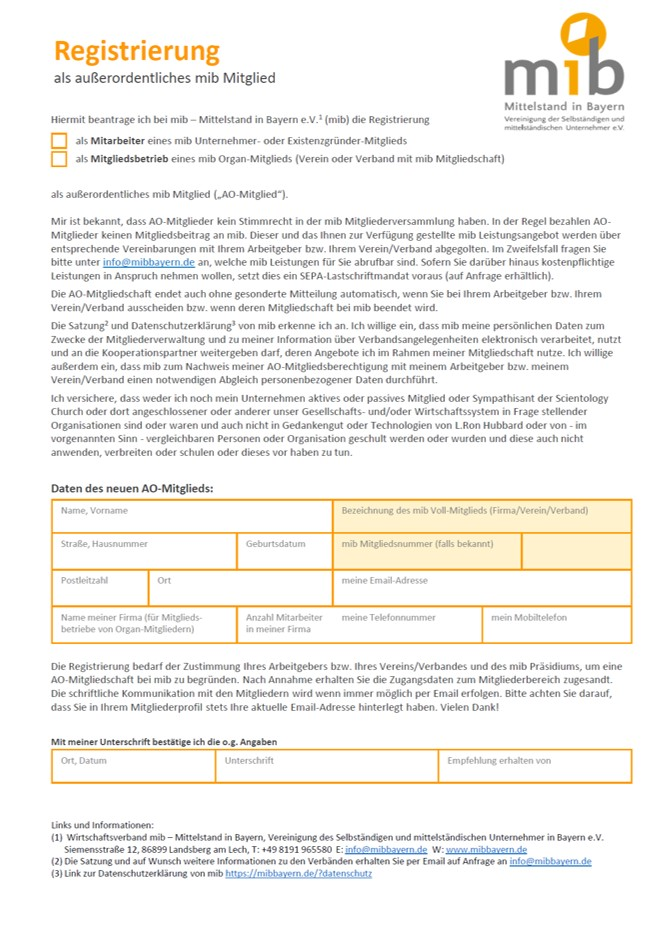 AO-Registrierung